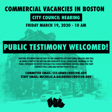 Boston City Council Hearing on Commercial Vacancies